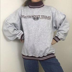 Vintage • 90s Southwest Texas State Uni Turtleneck